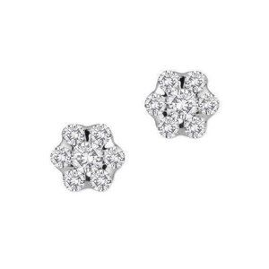 5.25 carats Round cut diamonds women STUDS earring
